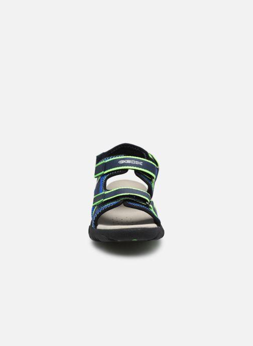 Sandalen Geox Jr Sandal Strada J1524A blau schuhe getragen