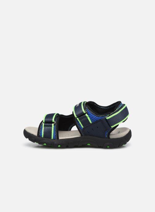 Sandalen Geox Jr Sandal Strada J1524A blau ansicht von vorne