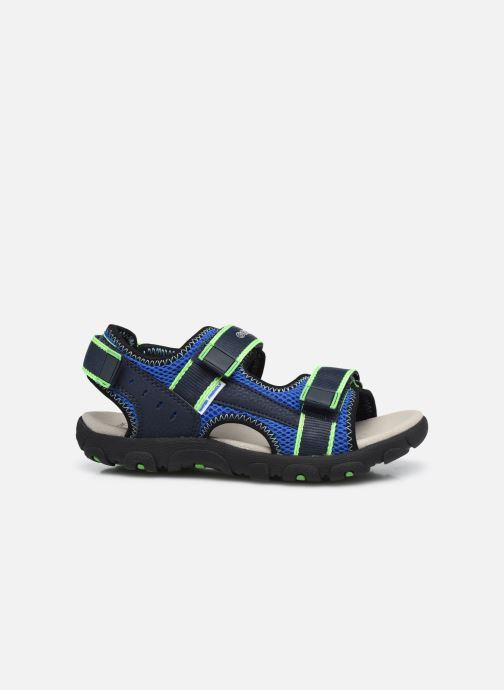 Sandalen Geox Jr Sandal Strada J1524A blau ansicht von hinten