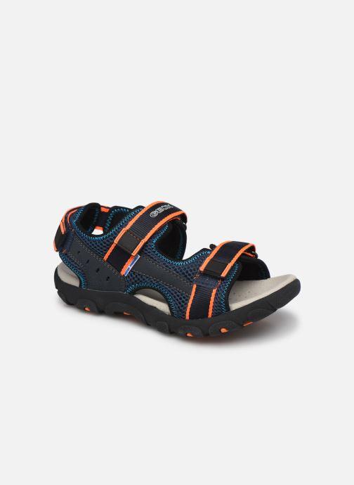 Sandalen Geox Jr Sandal Strada J1524A Blauw detail