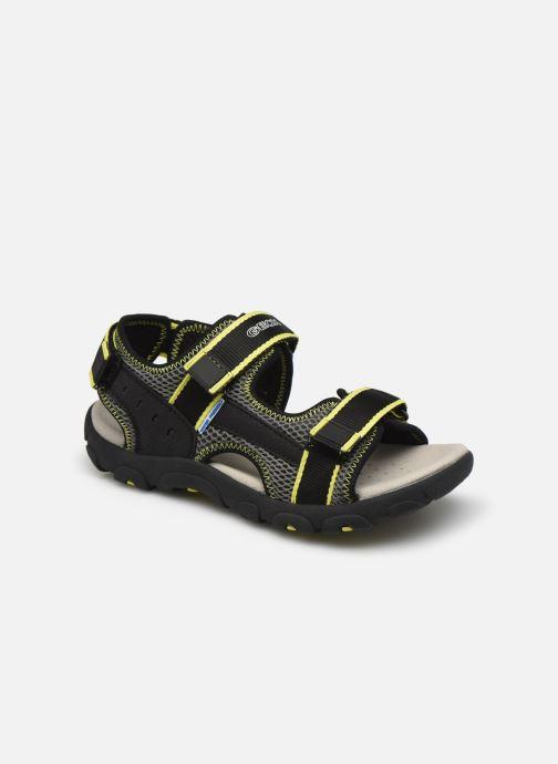 Sandales et nu-pieds Geox Jr Sandal Strada J1524A Noir vue détail/paire
