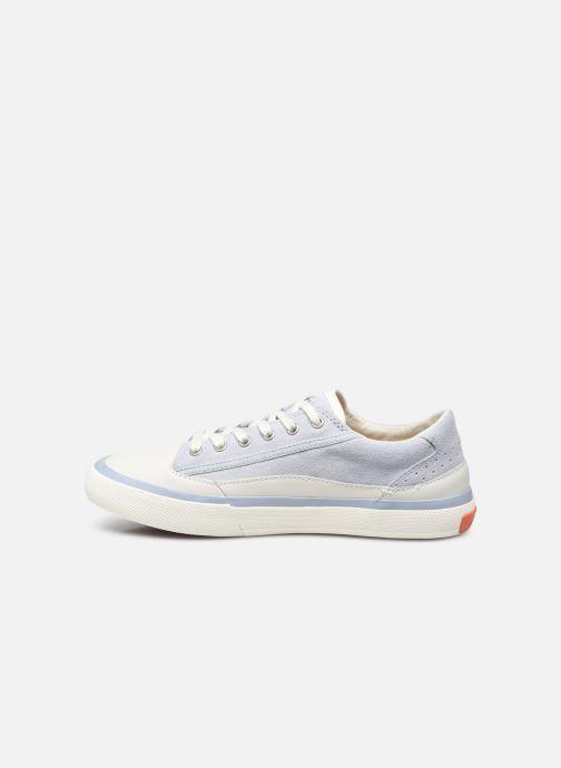 Sneaker Clarks Aceley Lace blau ansicht von vorne