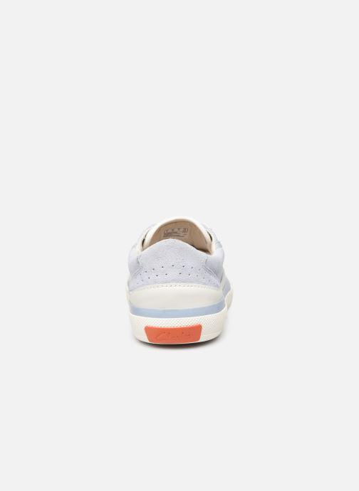 Sneaker Clarks Aceley Lace blau ansicht von rechts