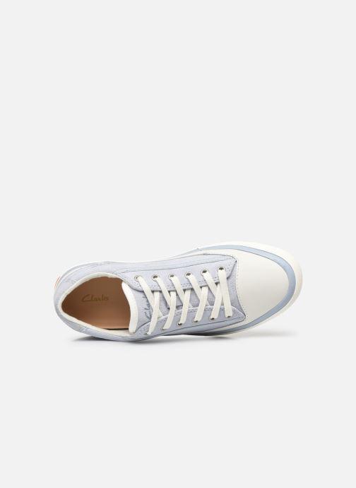 Sneaker Clarks Aceley Lace blau ansicht von links