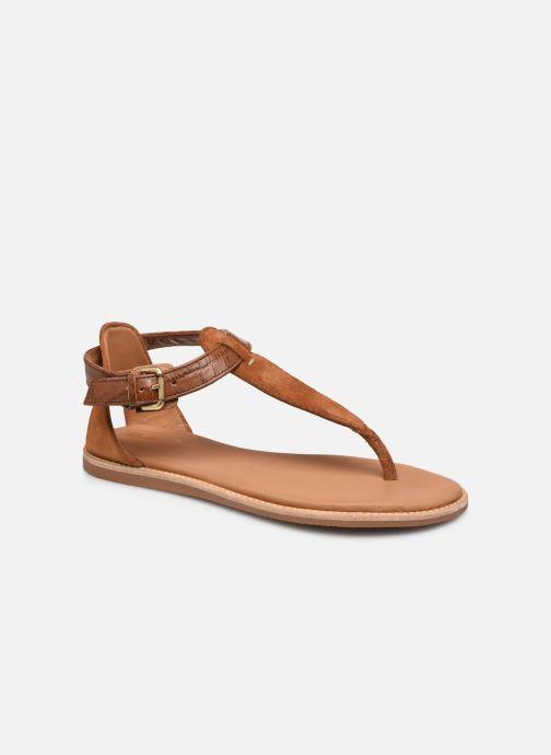 Sandales et nu-pieds Clarks Karsea Post Marron vue détail/paire