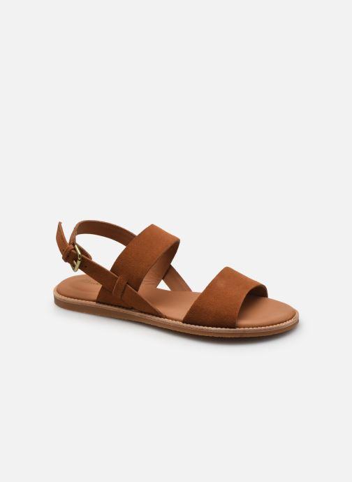 Sandales et nu-pieds Clarks Karsea Strap Marron vue détail/paire