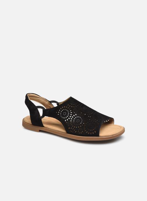 Sandales et nu-pieds Clarks Reyna Swirl Noir vue détail/paire