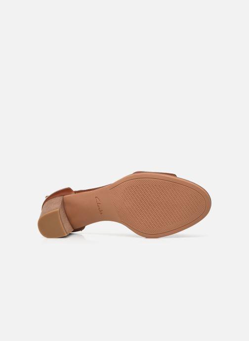 Sandalen Clarks Kaylin60 2Part braun ansicht von oben