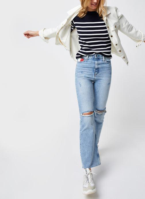 Vêtements Armor Lux Pull Marin ''Groix'' Femme Bleu vue bas / vue portée sac
