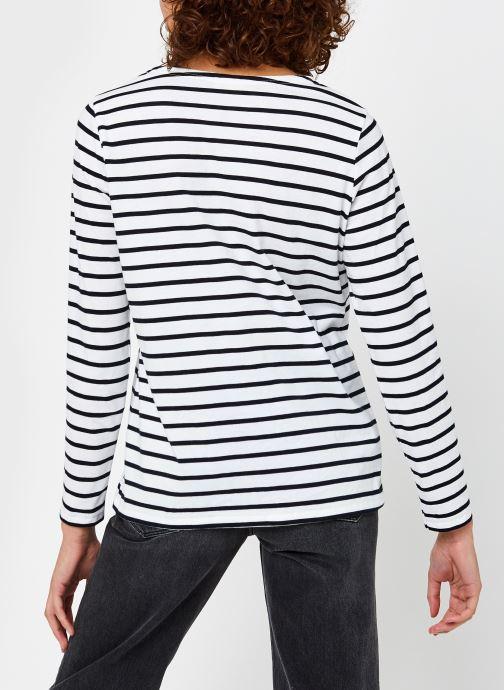 Vêtements Armor Lux Marinière ''Plozévet'' Femme Blanc vue portées chaussures