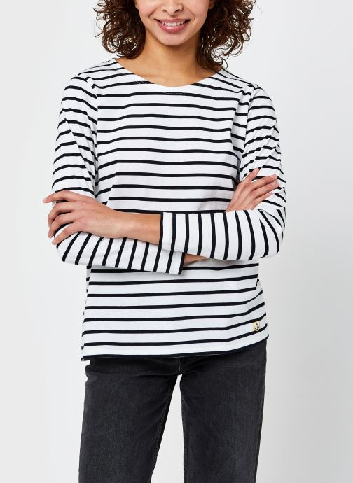Vêtements Armor Lux Marinière ''Plozévet'' Femme Blanc vue droite