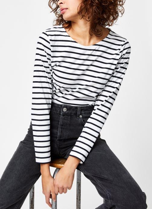 Vêtements Armor Lux Marinière ''Plozévet'' Femme Blanc vue détail/paire