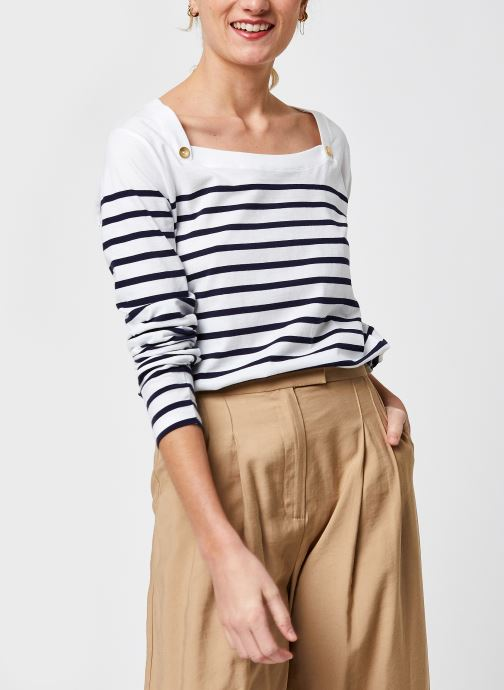 T-shirt manches longues - Marinière Femme