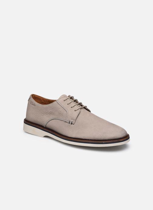 Chaussures à lacets Clarks Malwood Plain Gris vue détail/paire