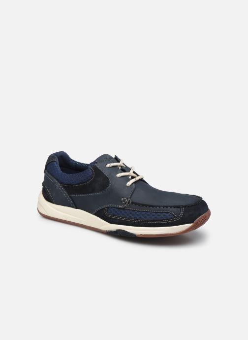 Zapatos con cordones Clarks Langton Lane Azul vista de detalle / par