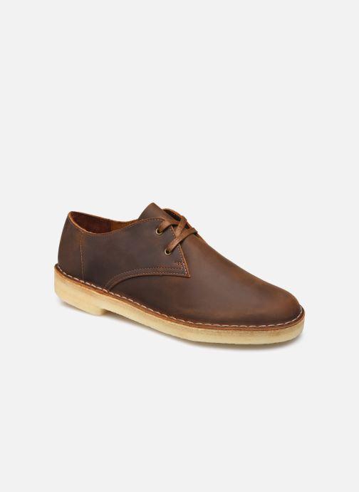 Chaussures à lacets Clarks Originals Desert Khan Marron vue détail/paire