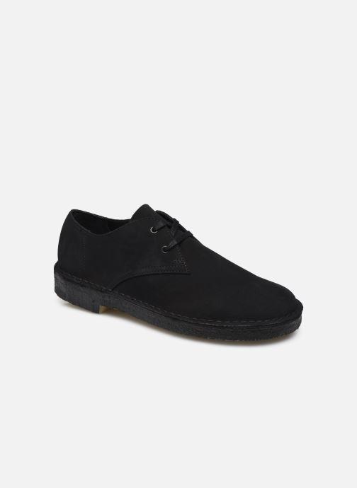 Chaussures à lacets Clarks Originals Desert Khan Noir vue détail/paire