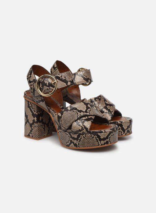 Sandali e scarpe aperte See by Chloé Lyna High Sandals Beige immagine 3/4