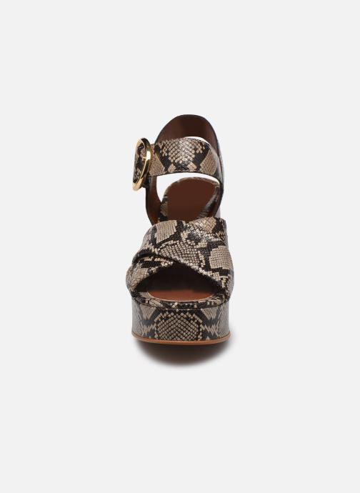 Sandali e scarpe aperte See by Chloé Lyna High Sandals Beige modello indossato