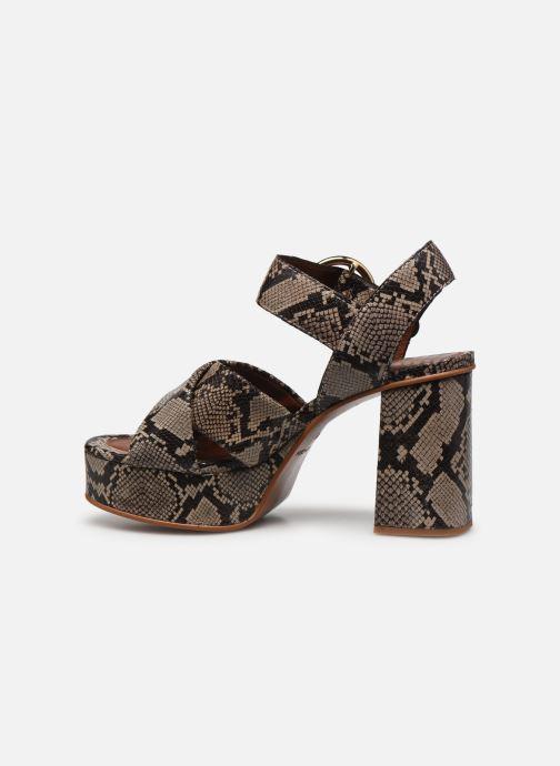 Sandalias See by Chloé Lyna High Sandals Beige vista de frente