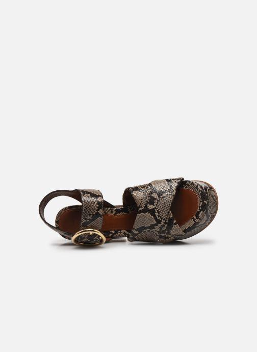 Sandali e scarpe aperte See by Chloé Lyna High Sandals Beige immagine sinistra