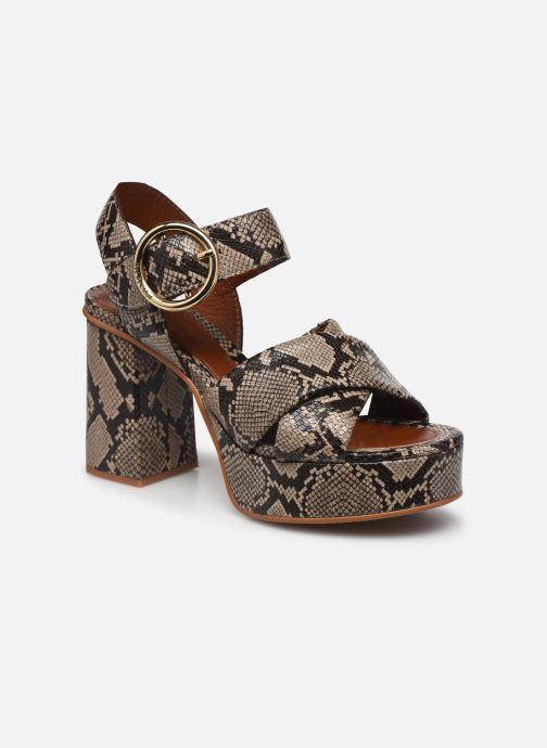 Sandalias See by Chloé Lyna High Sandals Beige vista de detalle / par