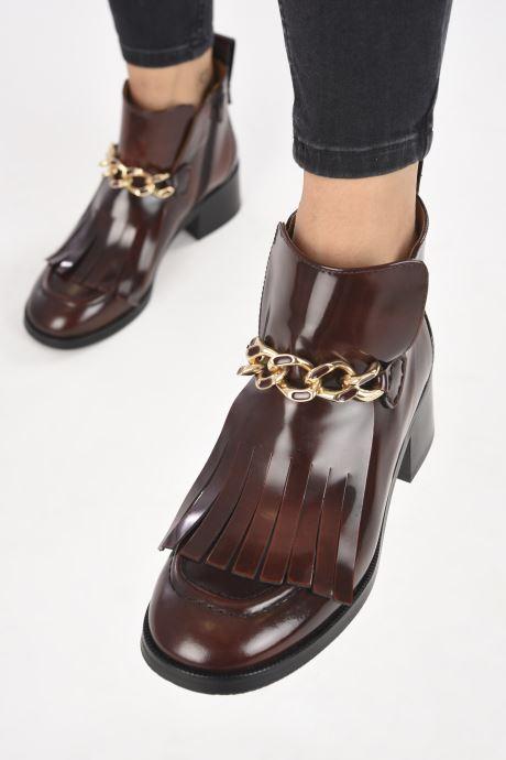 Bottines et boots See by Chloé Mahe Loafer Bordeaux vue bas / vue portée sac
