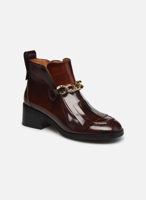 Bottines et boots See by Chloé Mahe Loafer Bordeaux vue détail/paire