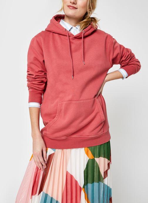 Kleding Colorful Standard Classic Organic Hood F Roze detail