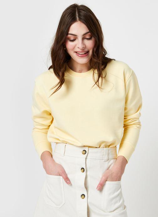Vêtements Colorful Standard Women Classic Organic Crew F Jaune vue détail/paire