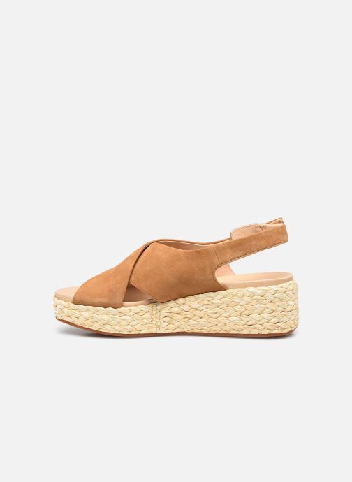 Sandales et nu-pieds Clarks Unstructured Kimmei Cross Jaune vue face