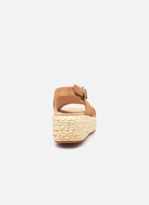 Sandales et nu-pieds Clarks Unstructured Kimmei Cross Jaune vue droite