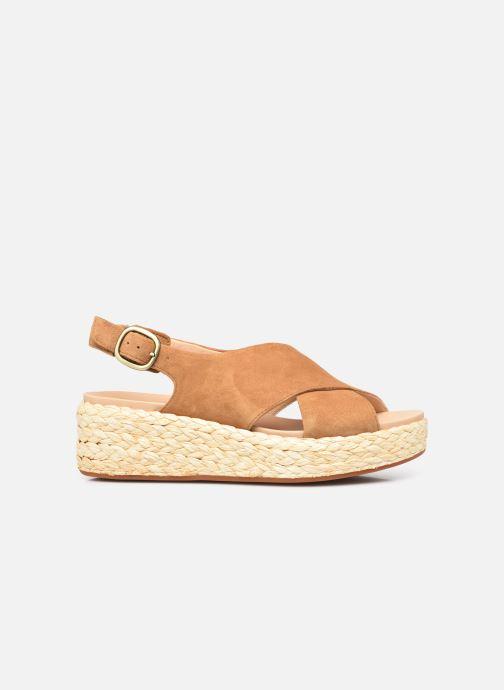 Sandales et nu-pieds Clarks Unstructured Kimmei Cross Jaune vue derrière