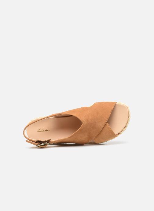 Sandales et nu-pieds Clarks Unstructured Kimmei Cross Jaune vue gauche