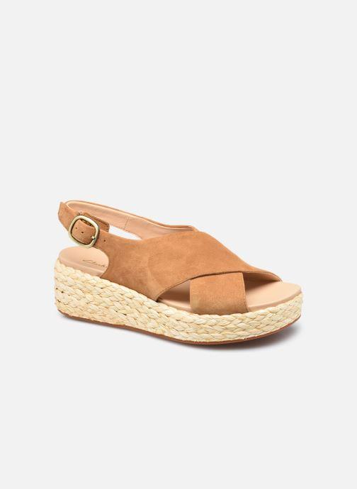 Sandales et nu-pieds Clarks Unstructured Kimmei Cross Jaune vue détail/paire