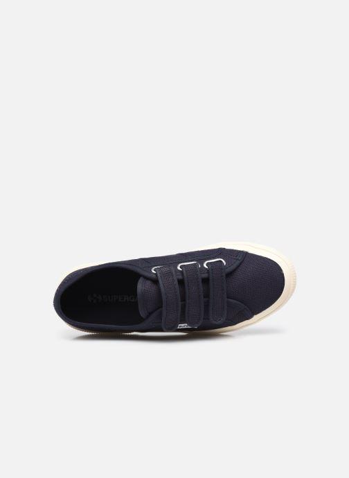Sneaker Superga 2750 Cot 3 Strapu Coton W blau ansicht von links