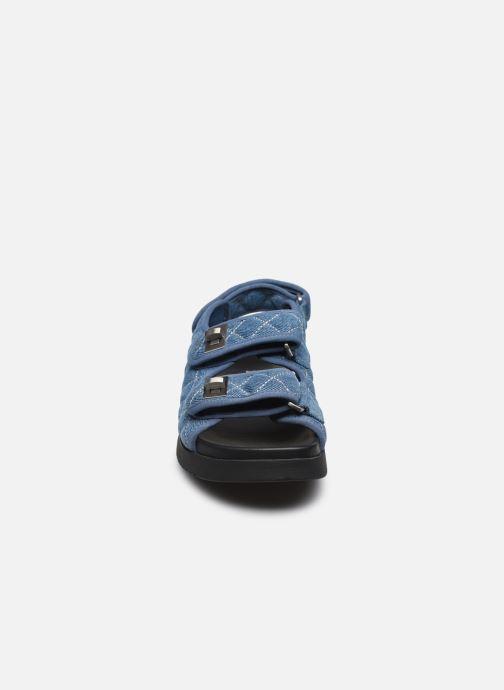 Sandalen Dune London LOCKSTOCK blau schuhe getragen