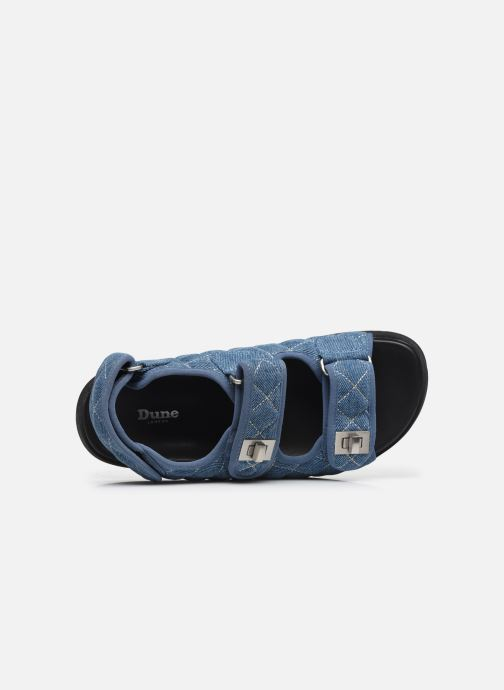 Sandalen Dune London LOCKSTOCK blau ansicht von links