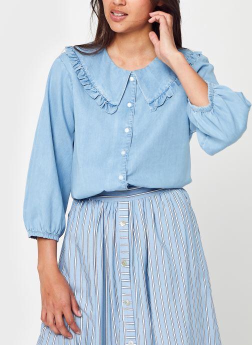 Kleding MOSS COPENHAGEN Flikka Jaina Shirt Blauw detail