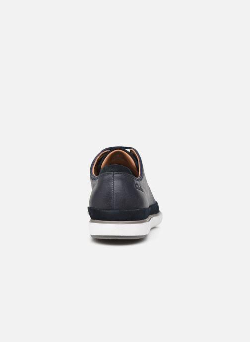 Chaussures à lacets Clarks Unstructured Bratton Lace Bleu vue droite