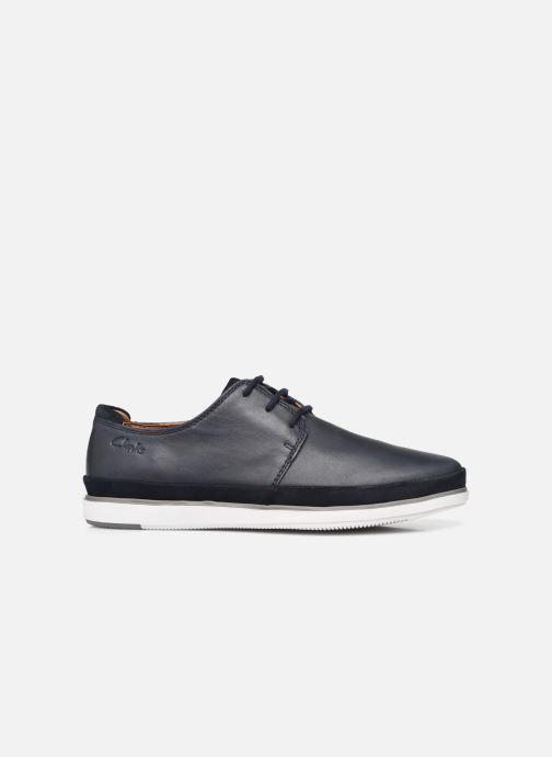 Chaussures à lacets Clarks Unstructured Bratton Lace Bleu vue derrière