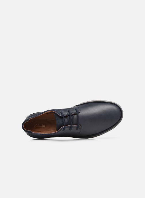 Chaussures à lacets Clarks Unstructured Bratton Lace Bleu vue gauche