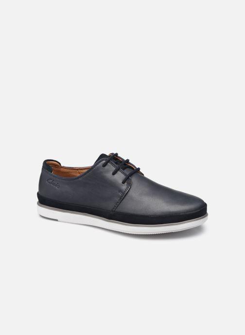 Chaussures à lacets Clarks Unstructured Bratton Lace Bleu vue détail/paire