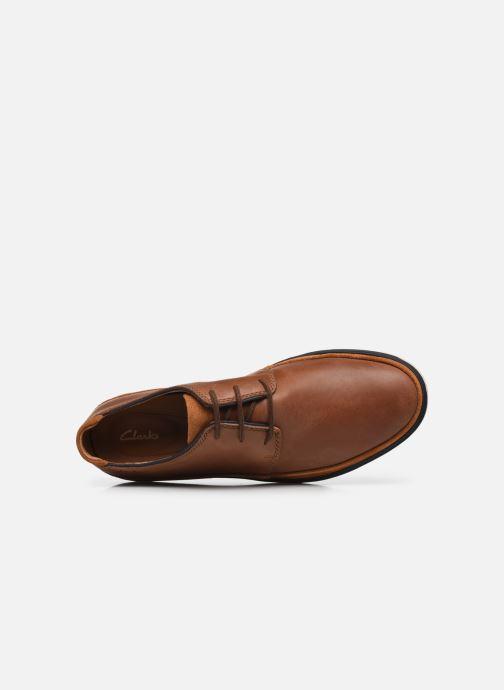 Chaussures à lacets Clarks Unstructured Bratton Lace Marron vue gauche