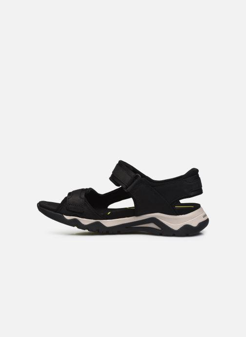 Sandali e scarpe aperte Clarks Unstructured Wave2.0 Jump Nero immagine frontale