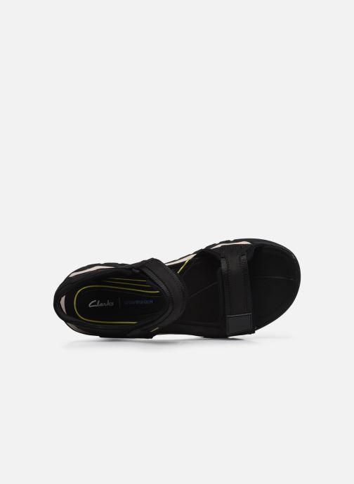 Sandali e scarpe aperte Clarks Unstructured Wave2.0 Jump Nero immagine sinistra