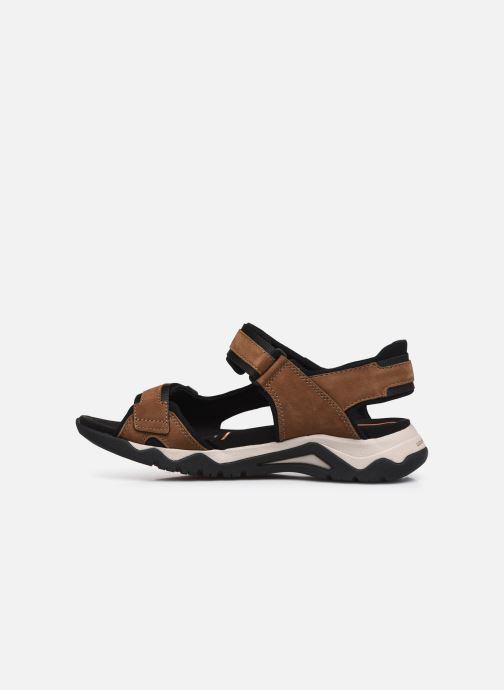 Sandali e scarpe aperte Clarks Unstructured Wave2.0 Jump Marrone immagine frontale