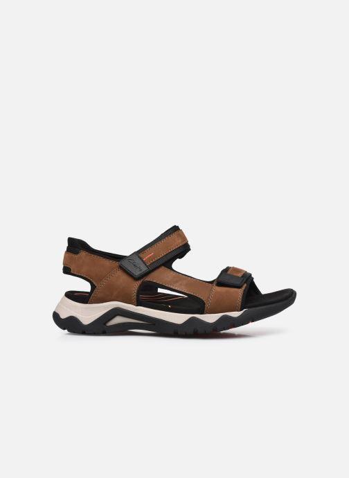 Sandali e scarpe aperte Clarks Unstructured Wave2.0 Jump Marrone immagine posteriore