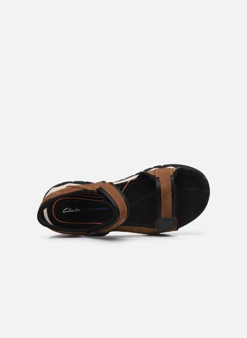 Sandali e scarpe aperte Clarks Unstructured Wave2.0 Jump Marrone immagine sinistra
