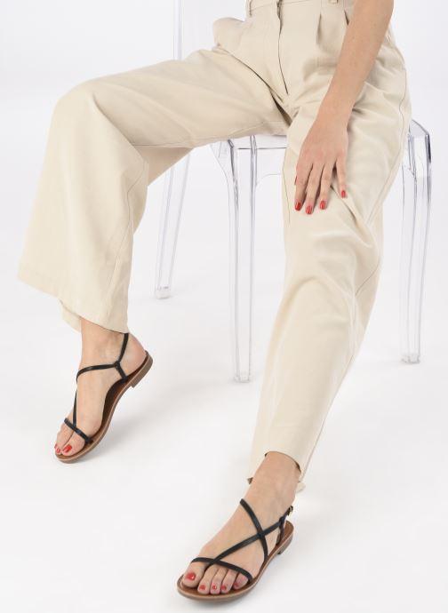 Sandales et nu-pieds ONLY ONLMELLY-7 PU  STRING SANDAL Noir vue bas / vue portée sac